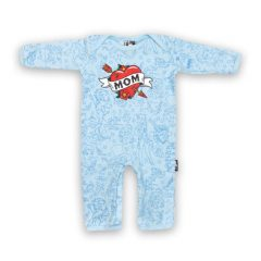 Six Bunnies - mommy playsuit Mom Blue - blauw met print