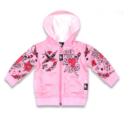 Six Bunnies - true love hoodie True Love Forever - roze met print