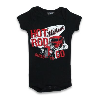 Hotrod Hellcat - burnout romper Build To Go - zwart met print