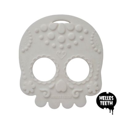 Witte bijtring - Helles Teeth Sugar Skull Teether - wit