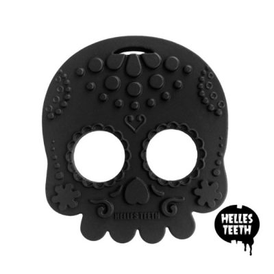 Zwarte bijtring - Helles Teeth Sugar Skull Teether - zwart