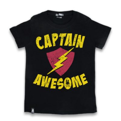 Six Bunnies - awesome t-shirt Captain Awesome - zwart met print