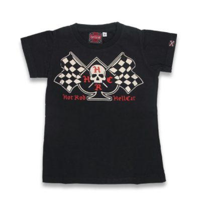 Hotrod Hellcat - ace of spades t-shirt Flags - zwart met print