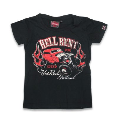 Hotrod Hellcat - hotrod t-shirt Hell Bent For Speed - zwart met print