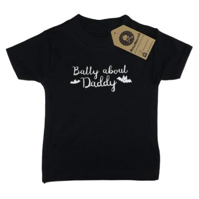 Metallimonsters - cute t-shirt Batty About Daddy - zwart met print