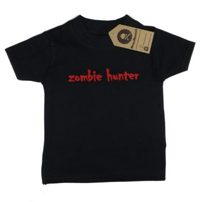 Metallimonsters - monster t-shirt Zombie Hunter - zwart met print