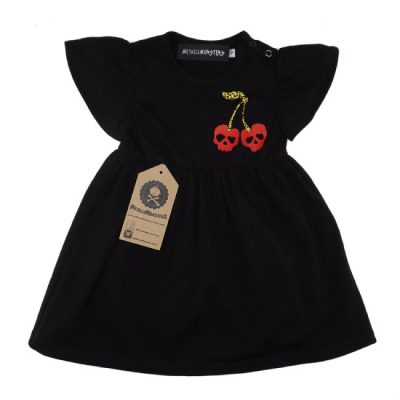 Metallimonsters - schattig jurkje Cherry Skull Dress Black - zwart