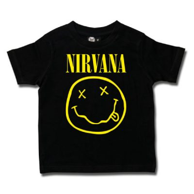 Metal-Kids - Nirvana t-shirt Smiley logo - zwart met print