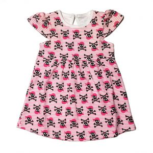 Metallimonsters - pirate dress Pirate dress - pink with print