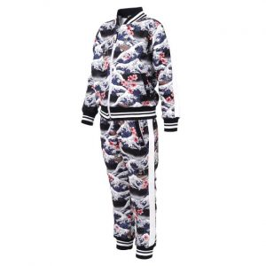 Six Bunnies - Hawaii tracksuit Surf's Up - schwarz mit Druck