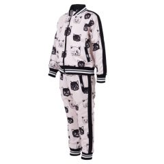 Six Bunnies - feline tracksuit Cats - black with print
