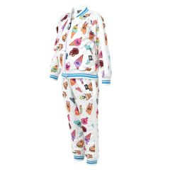 Six Bunnies - sweet tracksuit Ice Cream - white and blue with print