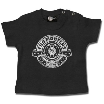 Metal-Kids - Foo Fighters baby t-shirt World logo - grijs met print