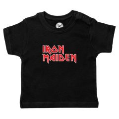 Metal-Kids - Iron Maiden baby t-shirt official logo - zwart met print