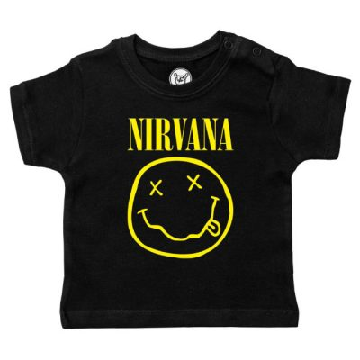 Metal-Kids - Nirvana baby t-shirt Smiley logo - zwart met print