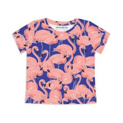 Sleep No More - flamingo t-shirt Aruba Aruba - blauw en roze