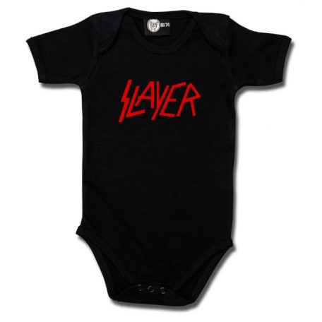 Metal-Kids - Slayer romper official logo - zwart met rode print
