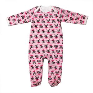Metallimonsters - pirates playsuit Pirate girl - rose avec impression