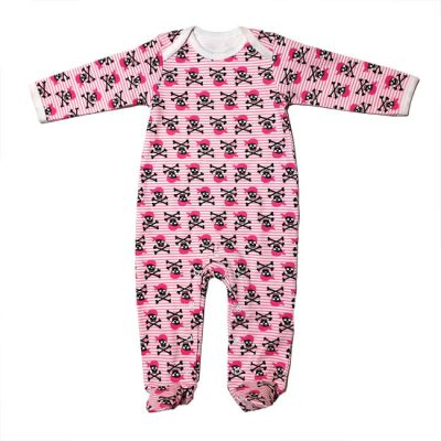 Metallimonsters - piraten playsuit Pirate girl - roze met print